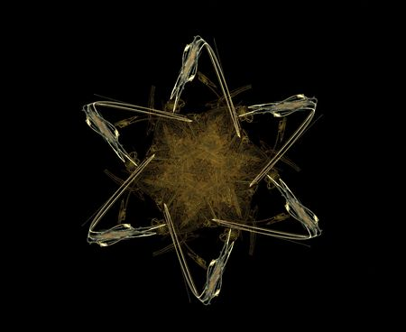 Star of David - computer generated fractal graphic Stock Photo