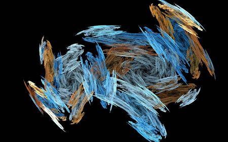 Chalk swirls - computer generated fractal graphic Reklamní fotografie
