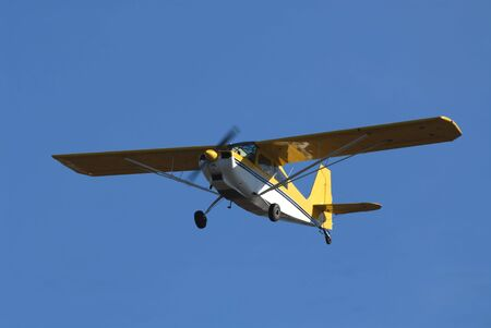 small plane: Small plane in flight, Palo Alto, California Stock Photo