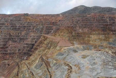 gouged: Open pit copper mine, Bisbee, Arizona