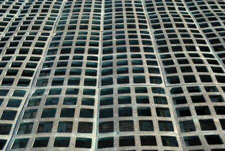 metal grate: Steel grate, The Embarcadero, San Francisco, California