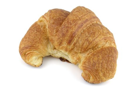buttery: Isolated images of a fresh baked croissant Stock Photo