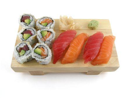 nigiri: An order of nigiri sushi Stock Photo