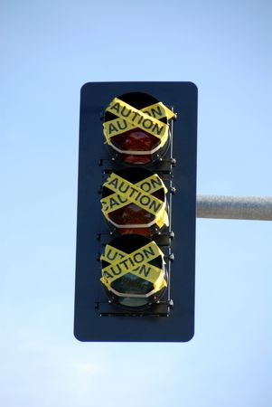 installed: Newly installed and not quite operational traffic light Stock Photo