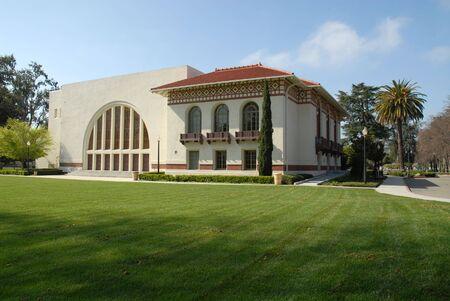 Auditorium, staat gekkenhuis, Santa Clara, Californië Stockfoto