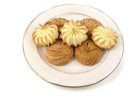 Vanilla and mocha butter cookies