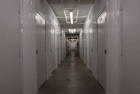 Corridor in a storage facility Stock fotó