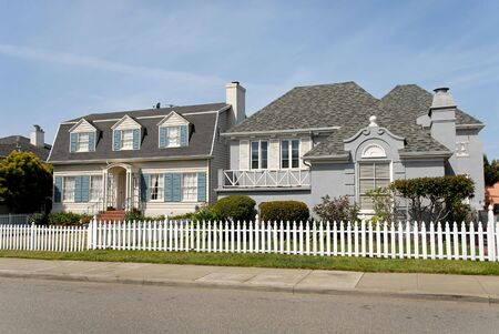 house gables: Private homes, San Francisco, California Stock Photo