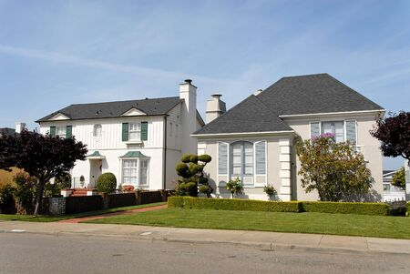 Private homes, San Francisco, California Stock Photo