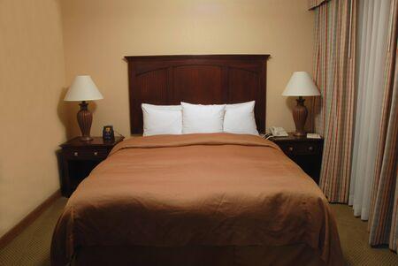 nightstands: Hotel bedroom