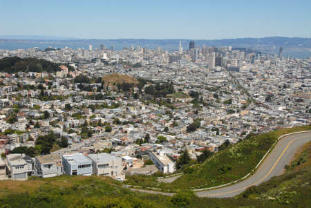 A view of San Francisco from Twin Peaks Overlook, California photo