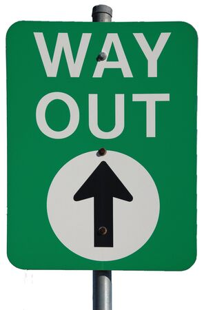 way out: Australian Way Out (Exit) road sign