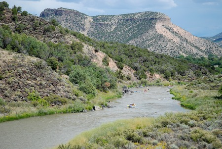 Rafting on the Rio Grande near Pilar, New Mexico 免版税图像