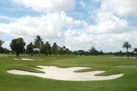Sand trap on an overcast day, Miami, Florida Stock Photo - 1719541