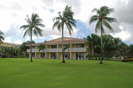 パティオ & ゴルフ リゾート、マイアミ、フロリダ州でバルコニー 写真素材