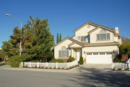 Silicon Valley home, Sunnyvale, California 免版税图像
