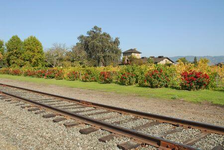 Railroad tracks in Wine Country, St. Helena, California