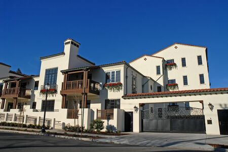 Spanish-style condominium complex, Mountain View, California
