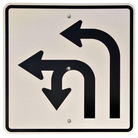 Left & U-Turn Lanes sign Reklamní fotografie