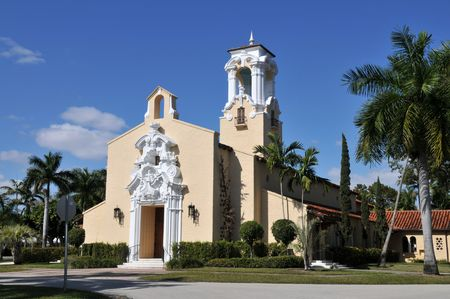 gables: Ornate church, Coral Gables, Florida