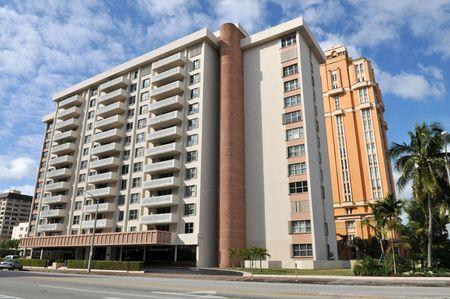 gables: Condominium tower, Coral Gables, Florida Stock Photo