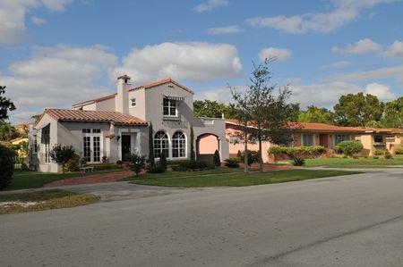 個人宅、コーラルゲーブルズ、フロリダ州 写真素材