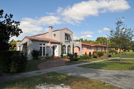 개인 주택, 코럴 게이블 스, 플로리다 스톡 콘텐츠