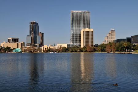Lake Eola in downtown Orlando, Florida