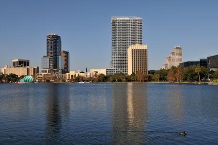 Lake Eola in downtown Orlando, Florida