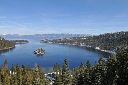 Fannette Island in Emerald Bay, South Lake Tahoe, California Stock Photo - 2571101