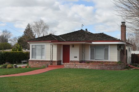 Suburban home on a cloudy day, Livermore, California