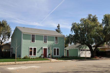 livermore: House and garage, Livermore, California Stock Photo