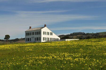 ranch house: Old ranch house, Half Moon Bay, California