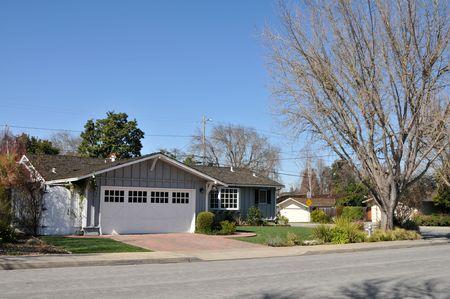 郊外の家、マウンテン ビュー、カリフォルニア州 写真素材