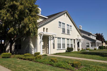 duplex: Duplex home, Mountain View, California Stock Photo