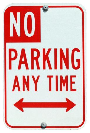 No Parking Any Time street sign Standard-Bild