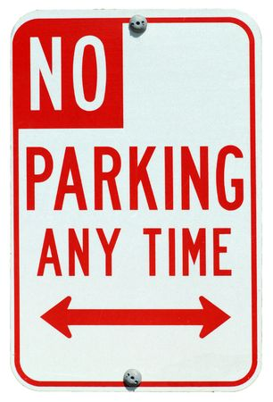 No Parking Any Time street sign Archivio Fotografico