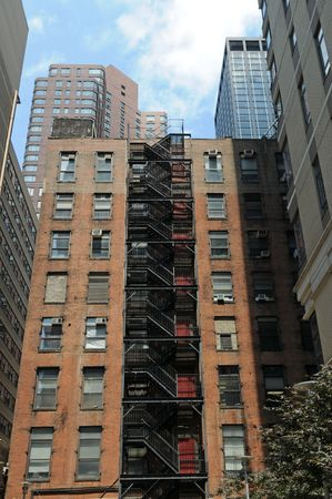 Apartment building with fire escape, New York, New York