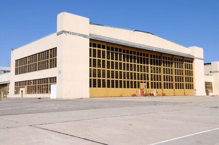 Disused airplane hangar, Alameda, California