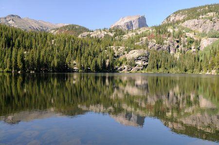 베어 호수, 록키 마운틴 국립 공원, 에스테 스 공원, 콜로라도 스톡 콘텐츠