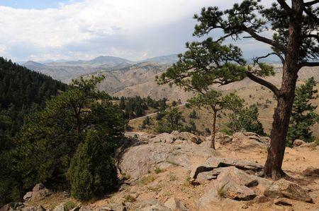 overlook: Mountain road overlook, Denver, Colorado