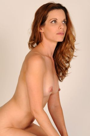Beautiful mature redhead posing nude Stock Photo - 3813630