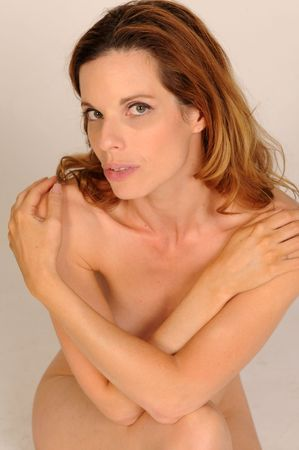 Beautiful mature redhead posing nude photo