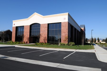 unoccupied: New, unoccupied office building, Fairfield, California Stock Photo