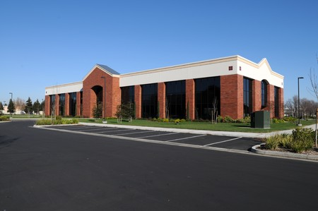 New, unoccupied office building, Fairfield, California Stock Photo