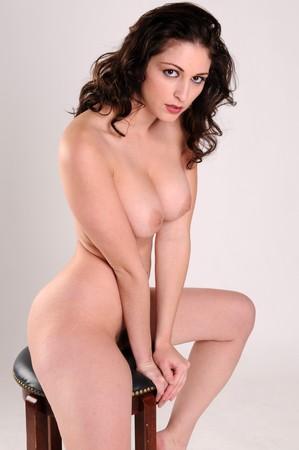 Beautiful brunette posing nude Stock Photo - 4341555