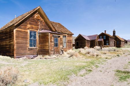 Abandoned buildings, Bodie State Historic Park, California photo