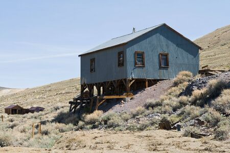 Abandoned ore processing building, Bodie State Historic Park, California photo