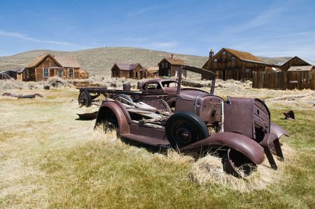 Abandoned vehicles, Bodie State Historic Park, California photo