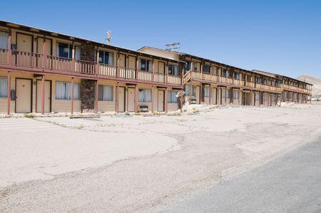 Rental units in an abandoned motel, Tonopah, Nevada